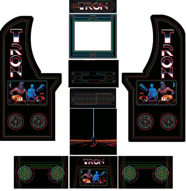 Arcade1Up Tron cabinet W Risers