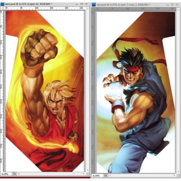 Ken and Ryu Sideart 1