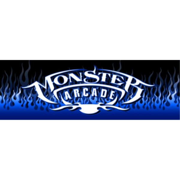 Monster BLUE Arcade no mame logo Marquee
