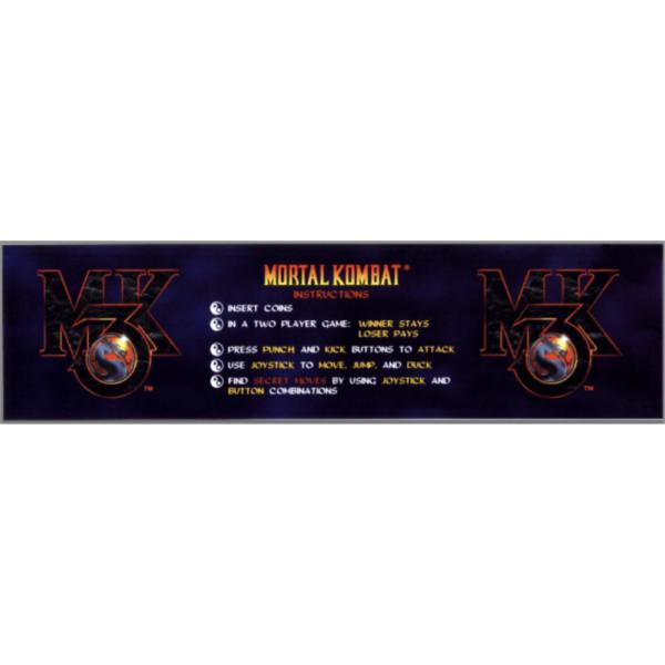 Mortal Kombat 3 instruction sticker