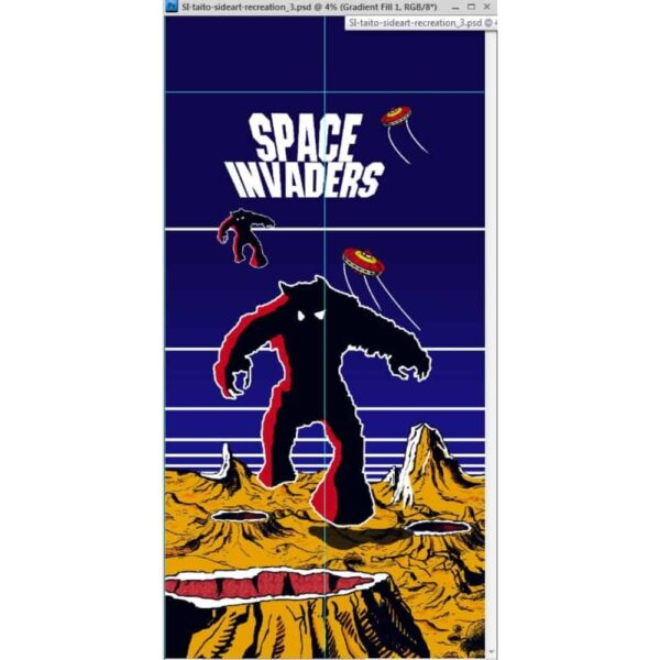 Space invaders Taito Fantasy sideart 3 1