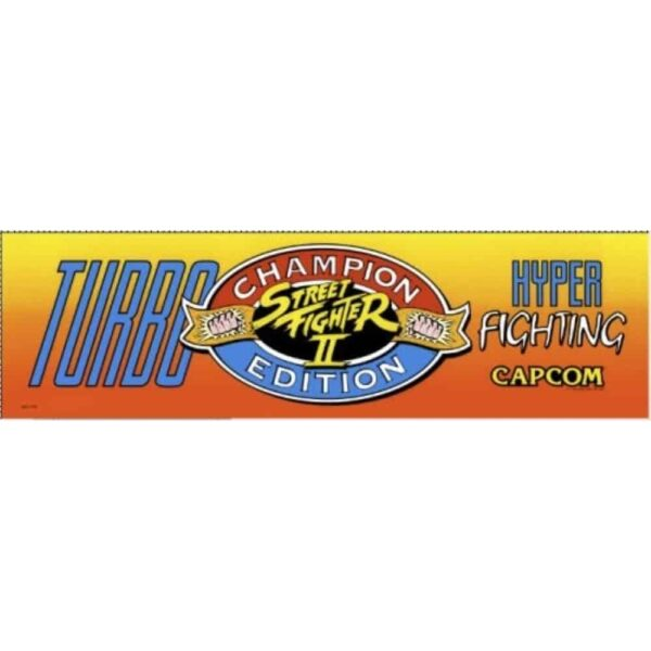 Street Fighter 2 Champion Edition Turbo Hyper FIghting Marquee