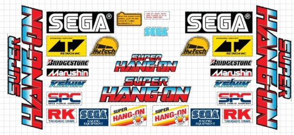 Super Hang on sticker set