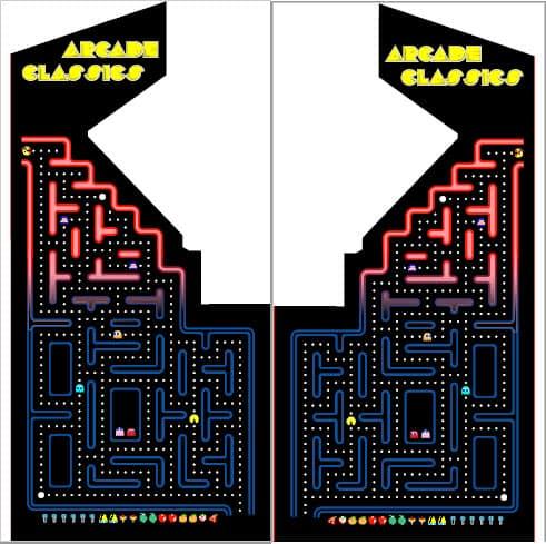 arcade Classic ms pacman maze