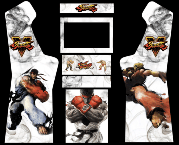 Street Fighter 5 3/4 Micro Center Arcade graphics